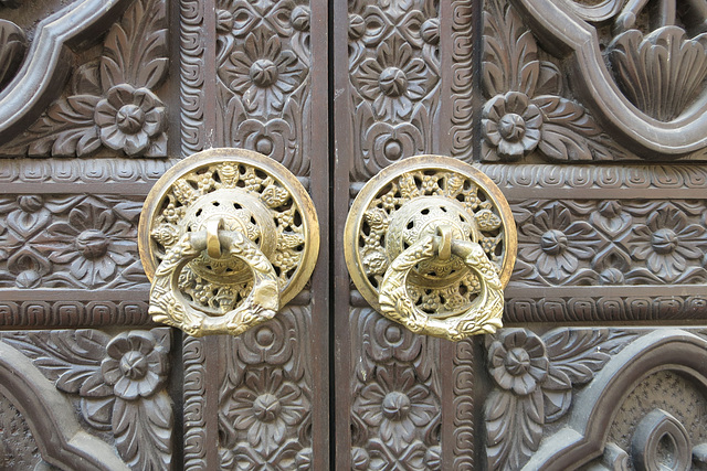 Portes à Durbar Square, Patan (Kathmandu, Népal)