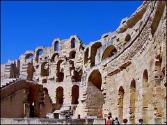 El Djem : visione interna dell'anfiteatro romano