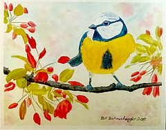 bird, 10x8 in