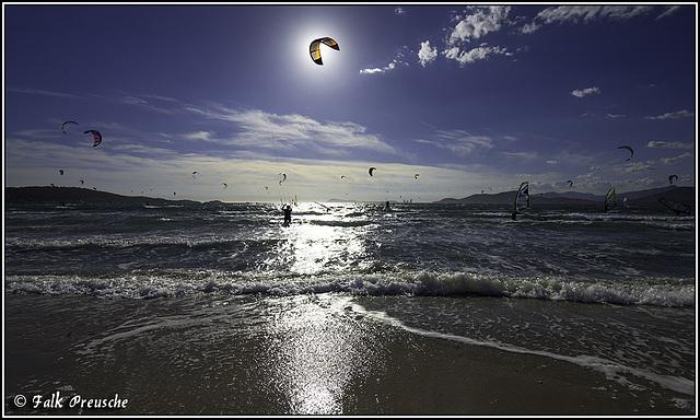 Sonne gefangen