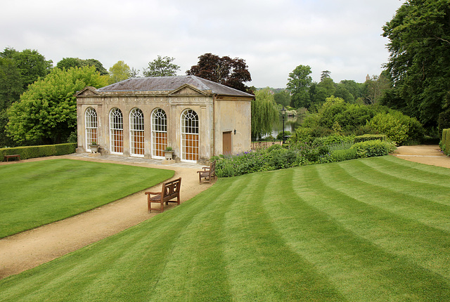 Sherborne orangery and lawns
