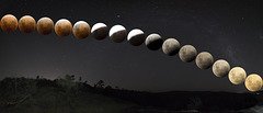 Moon Rise to Total Eclipse