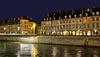 BESANCON: Le quai Vauban, le pont Battant de nuit. 02
