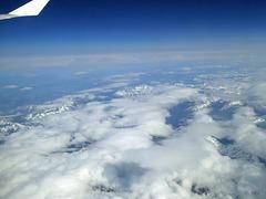 Über den Wolken .... und wieder gut gelandet