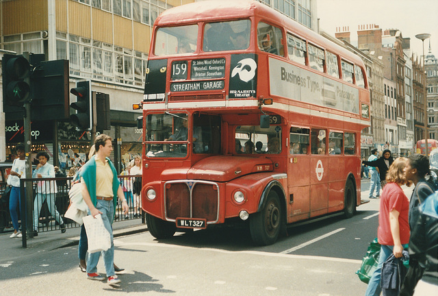 London RM327 (WLT 327) - 20 Jun 1987