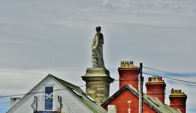 Admiral Collingwood among the chimneys!!