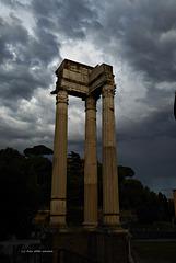 Regenwolken über Rom