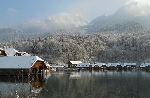 Bootsschuppen am Königssee