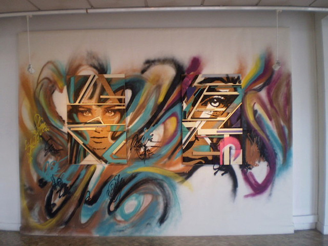 Street art in Municipal Gallery.