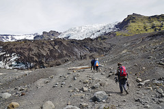 Auf dem Weg zum Falljökull Gletscher - On the way to the glacier Falljökull - mit PiP