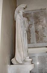 Detail of CS Jagger's War Memorial at Brimington Church, Chesterfield, Derbyshire