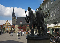 Marktplatz Quedlinburg...