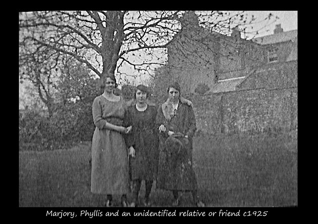 Marjory, Phyllis and an unidentified relative or friend 1921