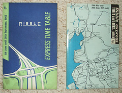 DSCF2095 Ribble Express and Limited Stop timetable books 1965 and 1971