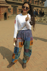 Touriste chinoise, Bhaktapur (Népal)