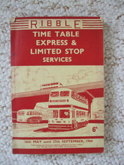 DSCF2060 Ribble Express and Limited Stop timetable book 1964