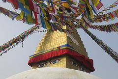 Le Grand Stupa coiffé (Boudhanath = Bodhnath), Kathamandu, Népal