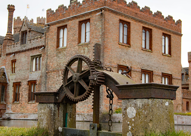 Sluice gate valve at Oxburgh Hall (Oxborough)