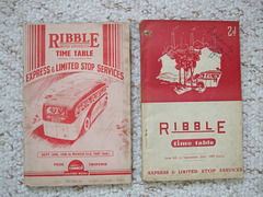 DSCF2058 Ribble Express and Limited Stop timetable books 1947 and 1949