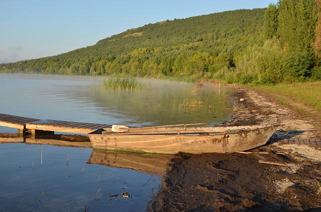 Бакотский залив, Лодка для рыбалки / The Bay of Bakota, The Boat for Fishing