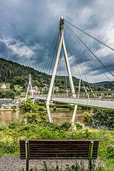 Die Neckarbrücke bei Zwingenberg - HBM /HFF (090°) - PIP