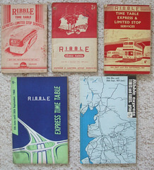 DSCF2057 Ribble Express and Limited Stop timetable books 1947-1971