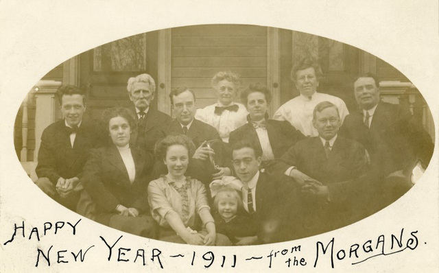Happy New Year 1911 from the Morgans