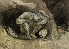 Keith Vaughan 'Man in a Cave', 1943