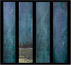 blue-green columns