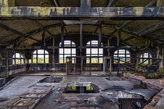 Coal mine du Gouffre - floor holes - 15