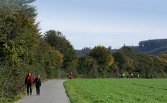 Der Ruhr- Fahrrad und -Wanderweg bei Kettwig