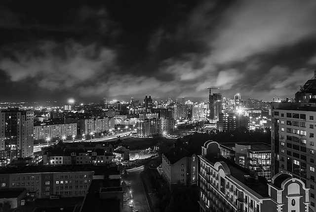 Night Clouds Over the City
