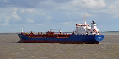 Tankschiff PATRICIA auf der Unterelbe richtung Hamburg