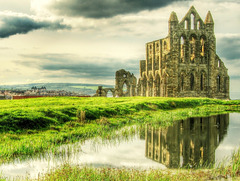 Whitby Abbey reflection