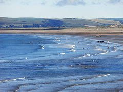 The tide is on its way out in Westward Ho!