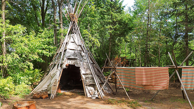 Native Camp near Fort William, Ontario.