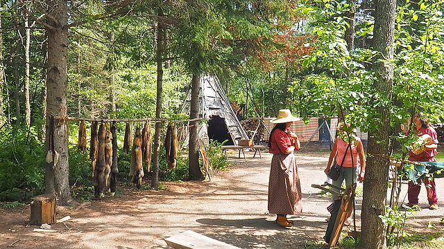 Native Camp near Fort William, Ontario.