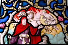 Detail of Stained Glass, Lady Chapel, Chesterfield Parish  Church, Derbyshire