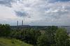 Blick aufs Wärmekraftwerk Trypillja und den Bahnhof Trypillja-Dniprowske