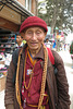 Vieux tibétain à Boudhanath (Bodhnath), Kathmandu (Népal)