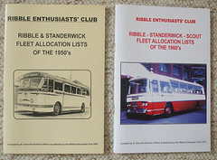 DSCF2072 Ribble and Standerwick fleet allocation lists published by Ribble Enthusiasts Club