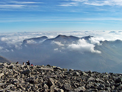 The Mamore mountains from Ben Nevis's summit