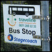 Stagecoach traveline bus stop