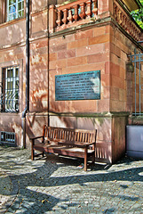 Worms - Die berühmte Gedenktafel am Heylsschlösschen