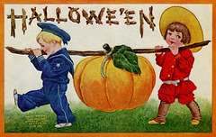 Bringing Home the Halloween Pumpkin
