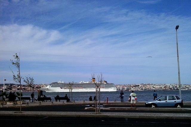 Cruise ship heading to the Atlantic.