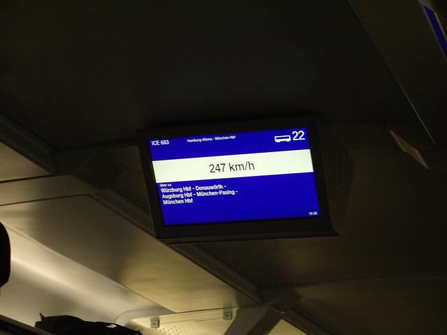 ICE (train) speed
