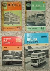 DSCF2093 Ian Allan bus fleet books for Ribble Motor Services