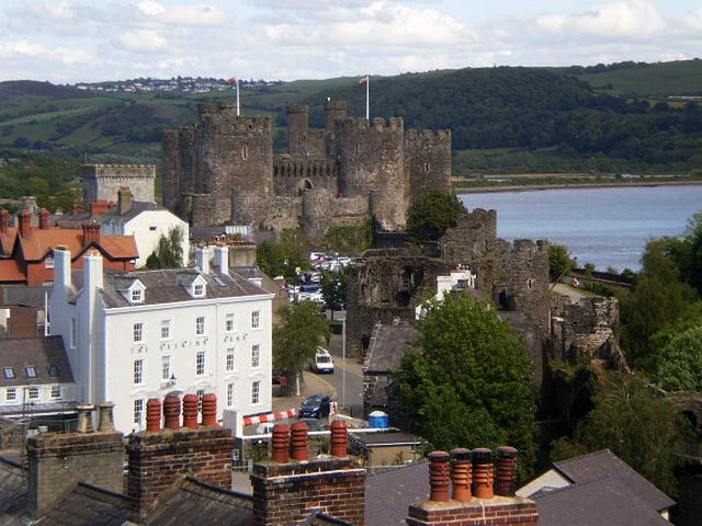 View from the walls of Conwy.