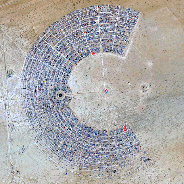 Burning Man Aerial 2014